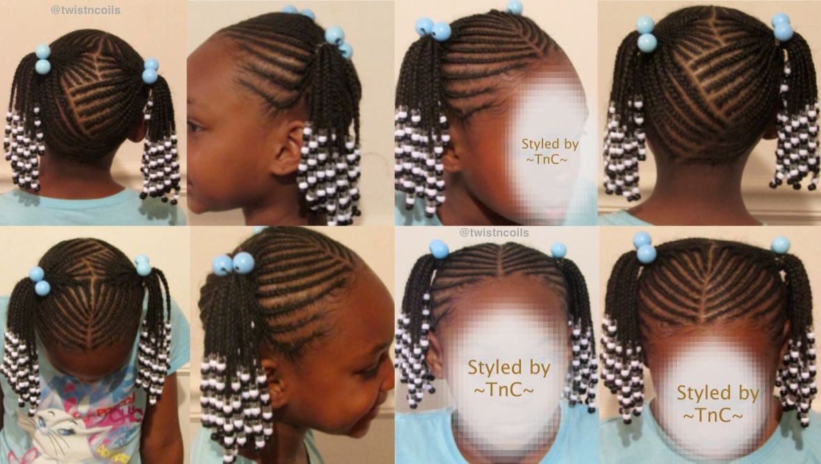 Cute Two Ponytail Zig Zag Braid Hairstyle For Kids Tnc Naturalhair Teamnatural Twistncoi Kids Hairstyles Kids Braided Hairstyles Little Girl Braid Styles