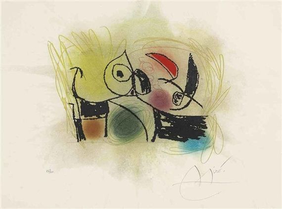 LE CRI-CRI 1978 Realized price 5,000 USD  Estimate 2,000 - 3,000 USD  Dimensions: S. 19 7/8 x 26 in Etching with aquatint in colors Signed  Edition number: 25/30  Christie's New York Jul. 21, 2011