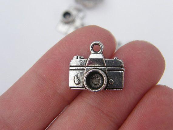 BULK 30 Camera charms  tibet silver P203