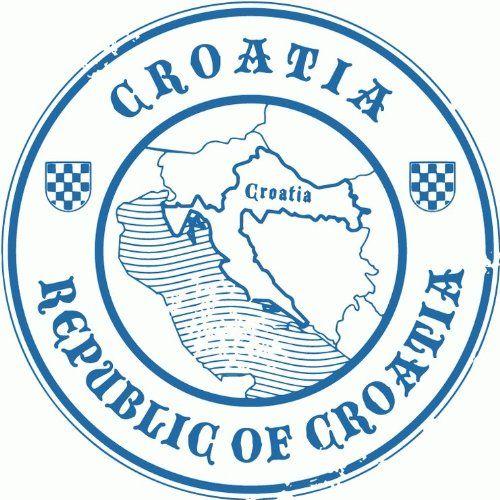 Ins 42 Croatia Rab Croatian island Wandattoo Car Sticker Island 15 cm