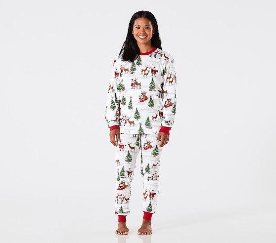 Adult Santa Tight Fit Pajamas Adult Christmas Pajamas