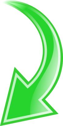 Arrow Curved Green Down Curved Arrow Arrow Symbols