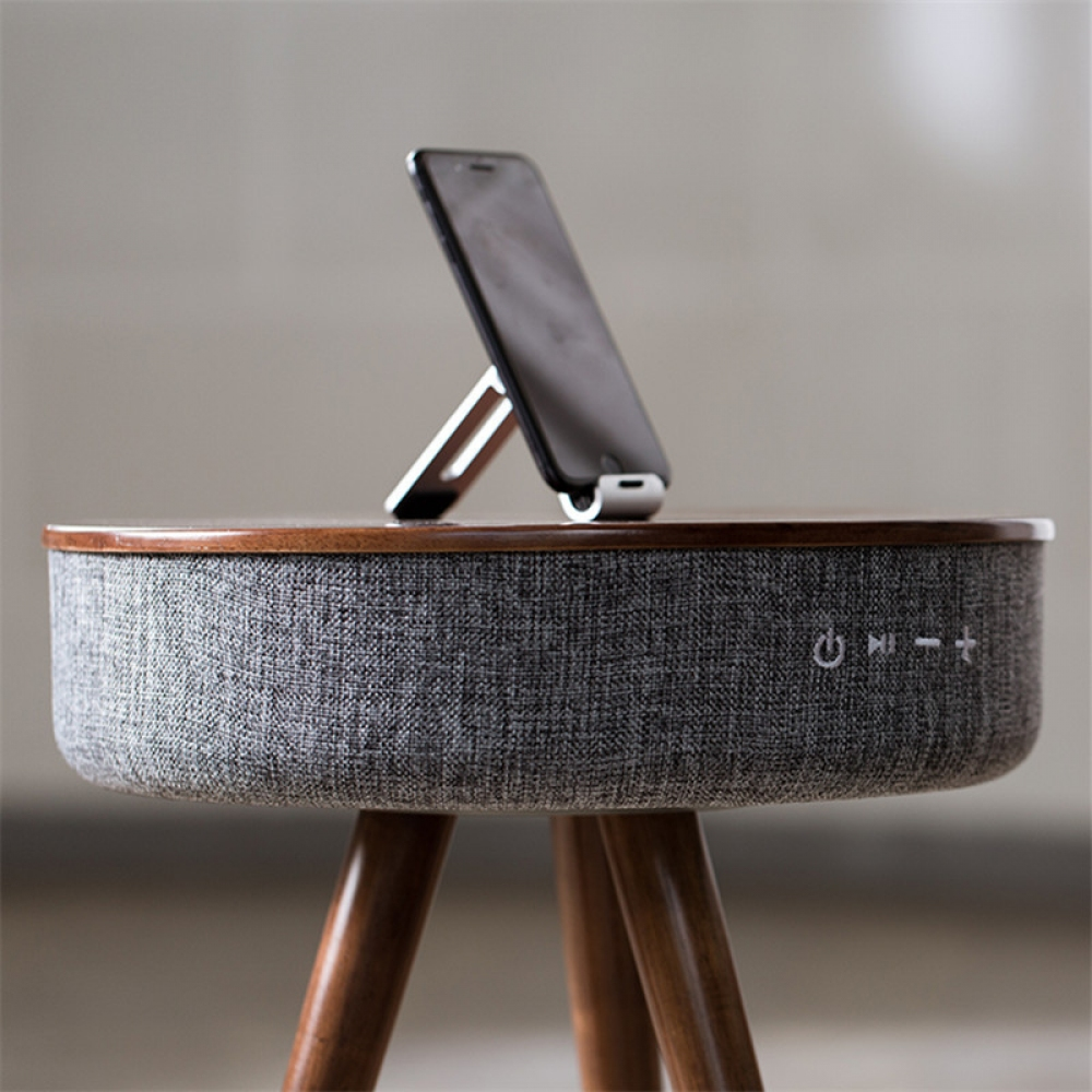 Wireless Charging Smart Table with Bluetooth Speaker