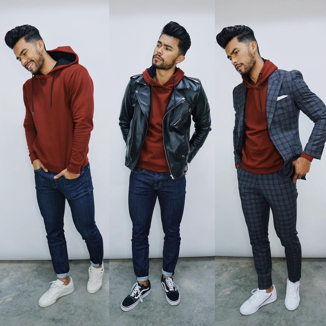 6 Unique Ways To Wear A Hoodie Ft The Esntls Hoodie Is Up On The Channel Which Of These Teaching Mens Fashion Hoodie Outfit Men Mens Casual Outfits Summer [ 1080 x 1080 Pixel ]
