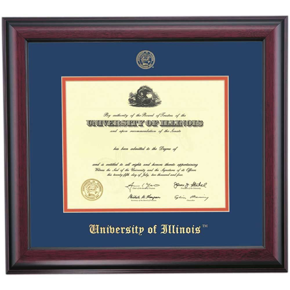 Illinois at Urbana-Champaign School Color Traditional | Diploma ...