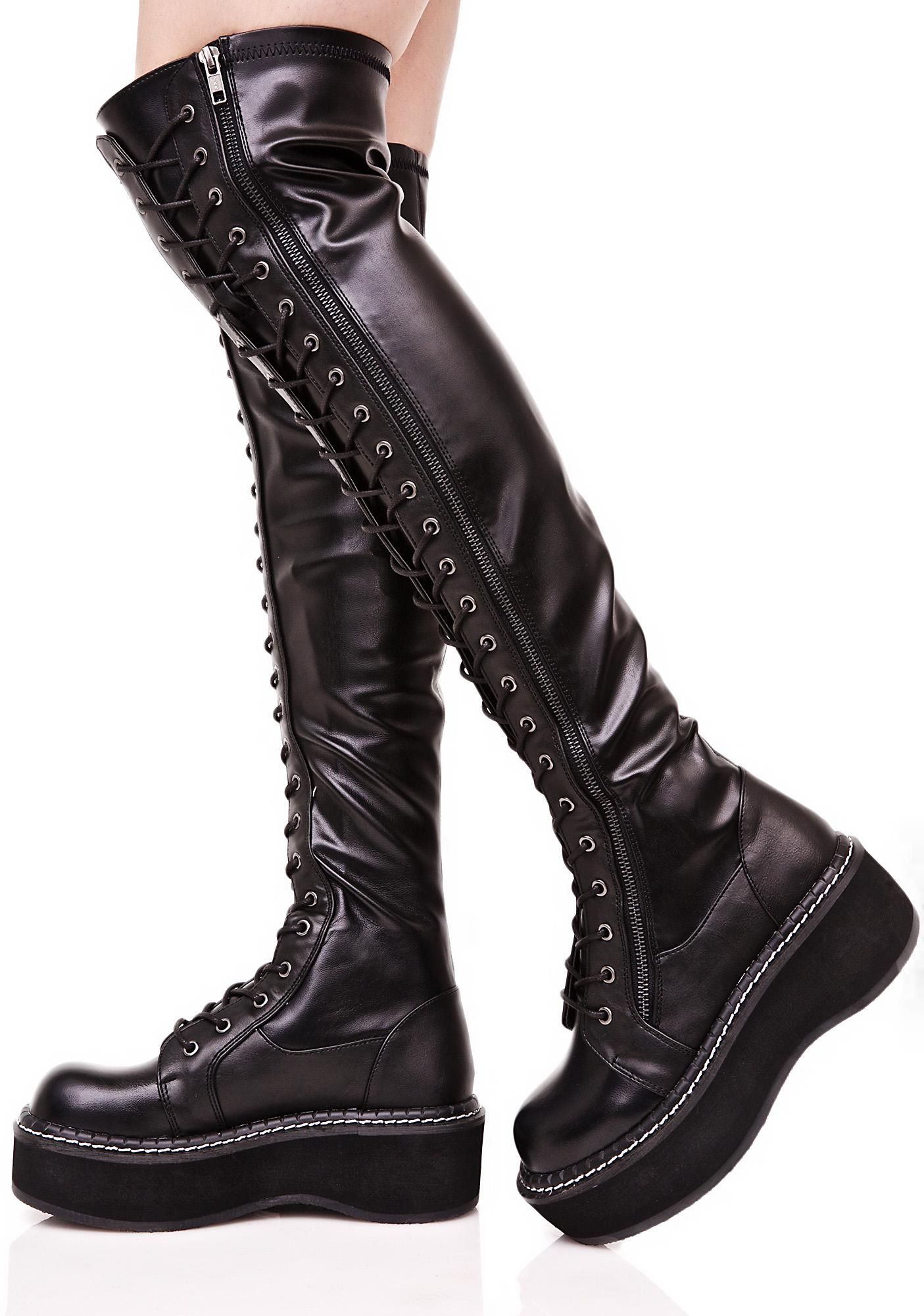 16d477115a3f Demonia Hellraiser Lace-Up Boot