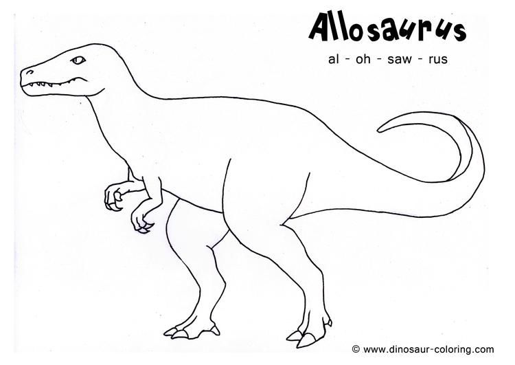 Allosaurus Dinosaurs Coloring Pages With Names Dinosaur Coloring Pages Dinosaur Coloring Dinosaur Images