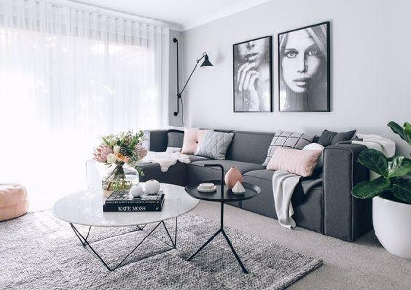 Scandinavian Decorating Ideas To Steal Now Grey Sofa Living Room Grey Couch Living Room Dark Grey Sofa Living Room