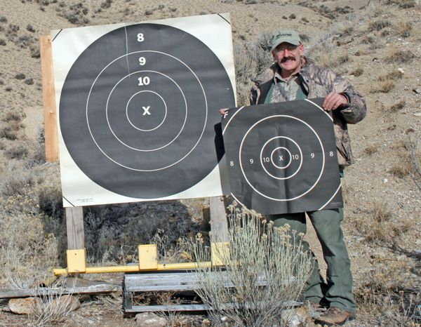 7e0c1c620d0 I like a large board on which to hang paper targets. The larger 1000 yard  targets are ideal because their large area allows you to see hits that are off  the ...