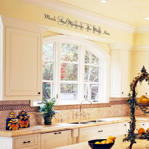 kitchen vinyl wall decal meals and memories are made on wall stickers for kitchen id=19057
