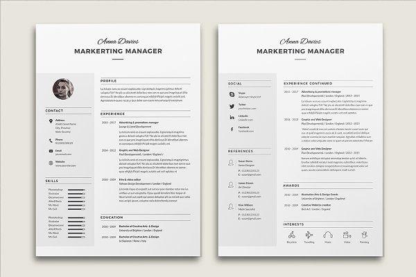 Resume Cv Anna Resume Design Template Resume Templates Resume Template Examples