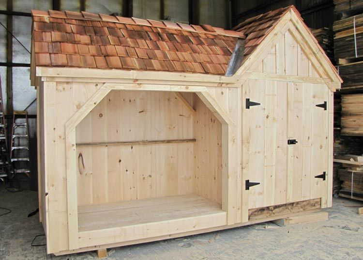 Firewood storage shed cedar shake shingles shake for Cedar shingle shed