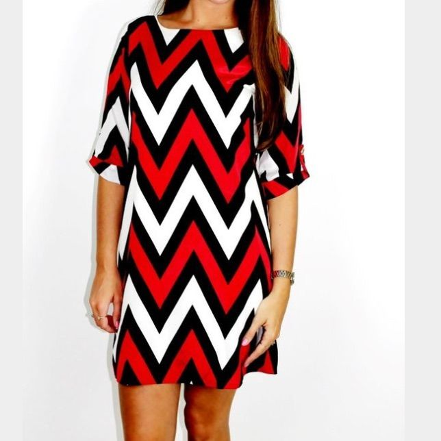 e8468d99fa639 red black and white chevron dress – Little Black Dress | Black Lace ...