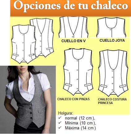 opciones chaleco dama b7b607f10c30