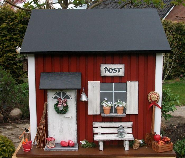 briefkasten aus holz im skandinavischen stil von pascalou auf briefkasten in. Black Bedroom Furniture Sets. Home Design Ideas