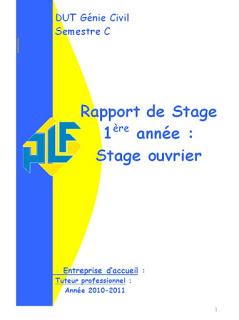Rapport De Stage Ouvrier Genie Civil Et Batiment En 2021 Genie Civil Rapport Exemple De Rapport