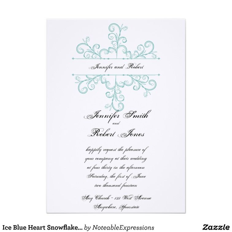 This Beautiful And Elegant Design Called Ice Blue Heart Snowflake Wedding Has A Bright