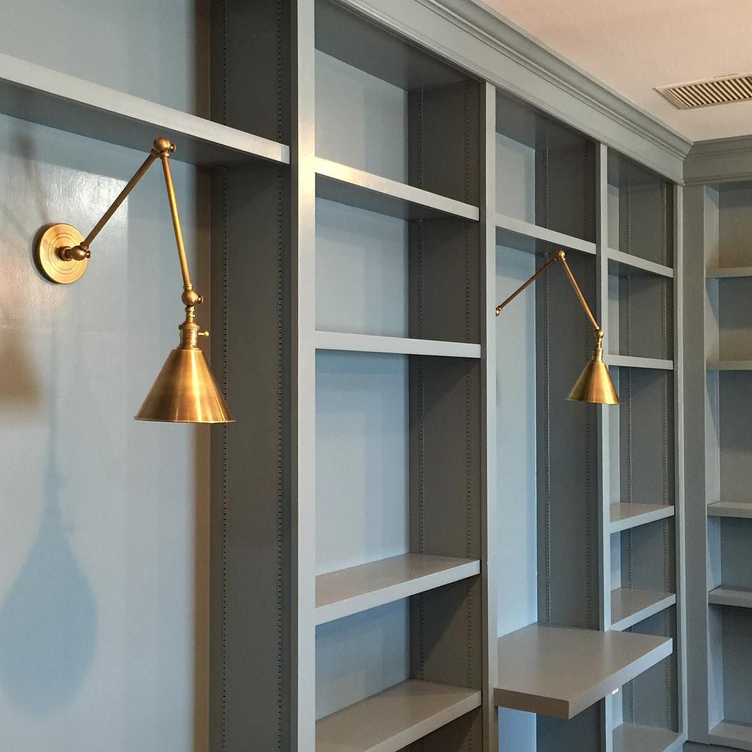 Benjamin Moore Van Courtland Blue - A Pretty Blue-gray On Library Bookcases…