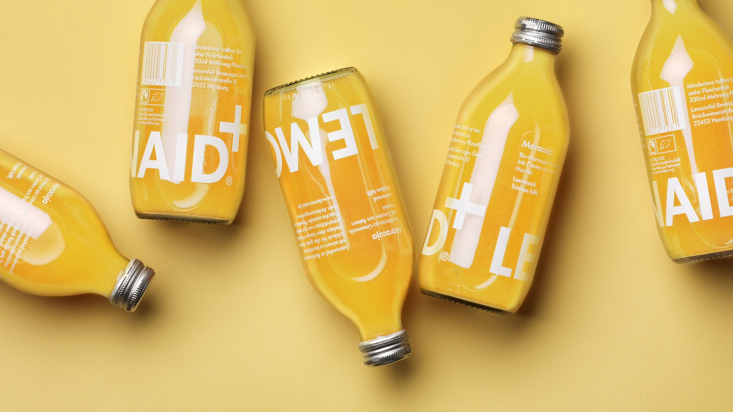 Visual identity and packaging for Lemonaid by The Studio ...