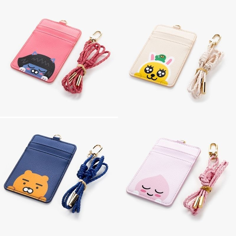 7a0a06274 Kakao Friends Leather Carder Holder Neck Strap ID Credit Card Case Wallet  Ryan #CardHolder