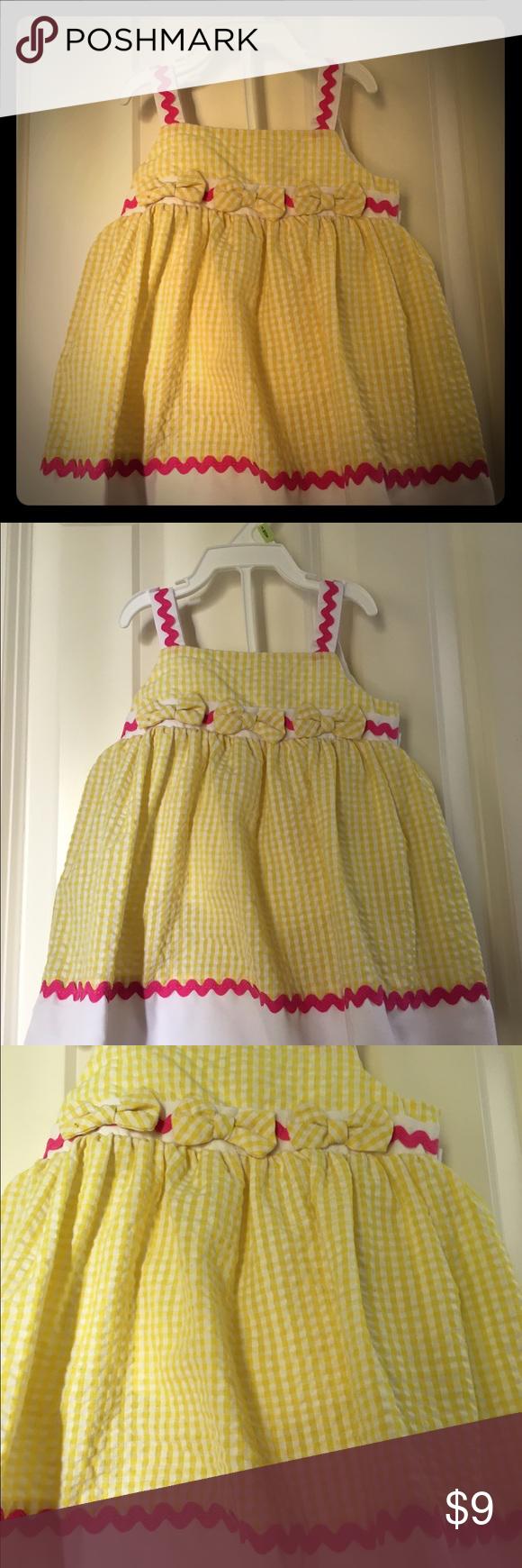 Yellow dress 3-6 months  Infant Yellow Seersucker Dress  My Posh Picks  Pinterest