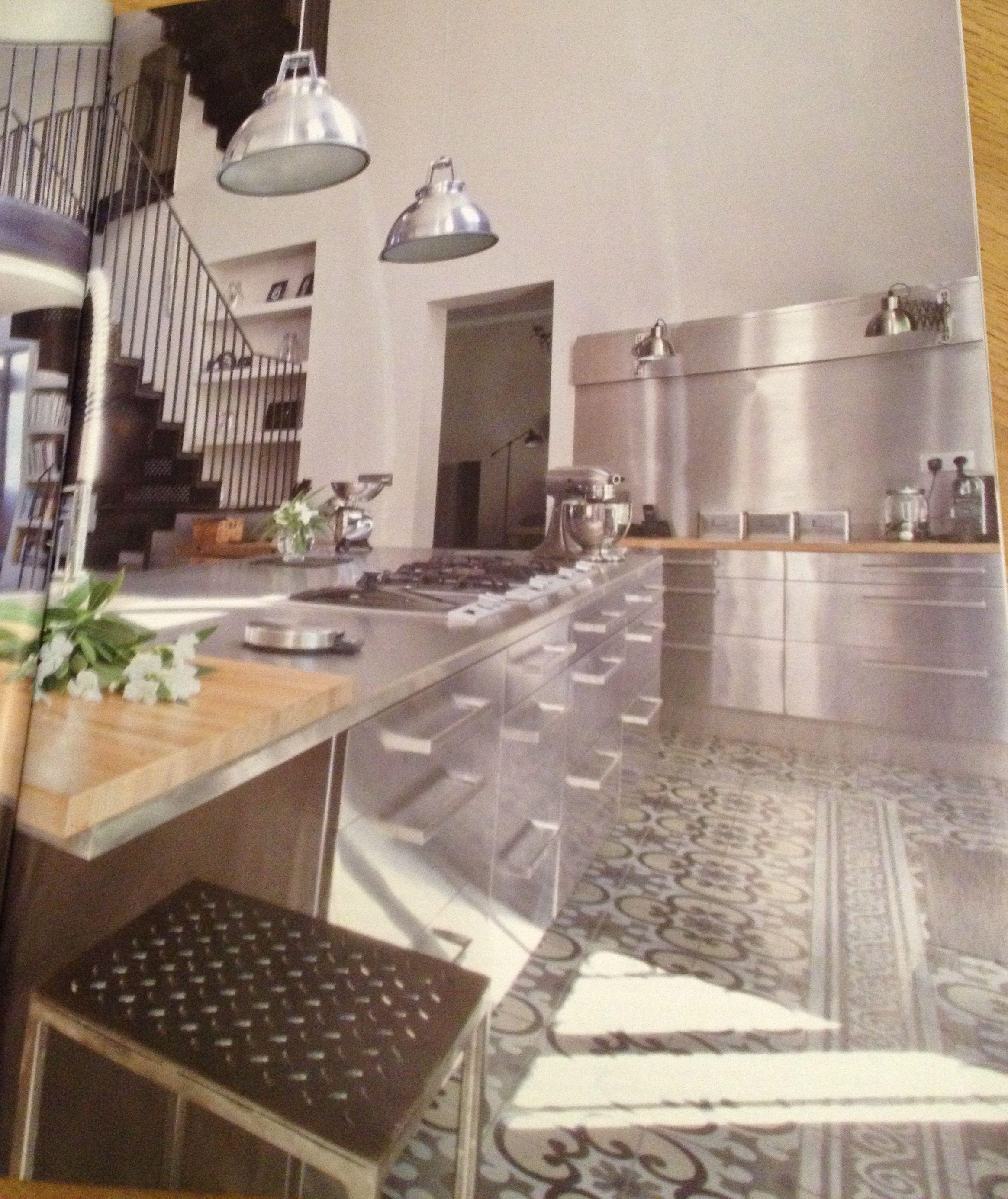 Steel ikea kitchen with portuguese tile floor utterly sublime steel ikea kitchen with portuguese tile floor utterly sublime and under floor heating to doublecrazyfo Choice Image