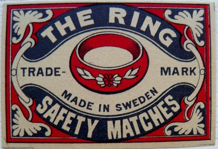 The RIng Matchbox Cover - Made in Sweden