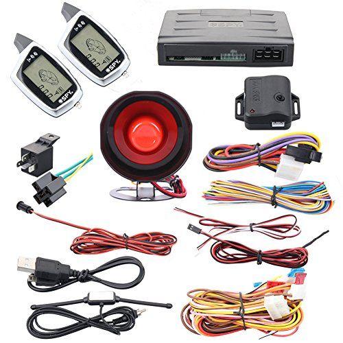 Spy 2 Way Car Alarm System Remote Engine Start Keyless Entry Lcd Display Shock Sensor Turbo Timer Rechargeable Remote Turbo Timer Car Alarm Car Accesories