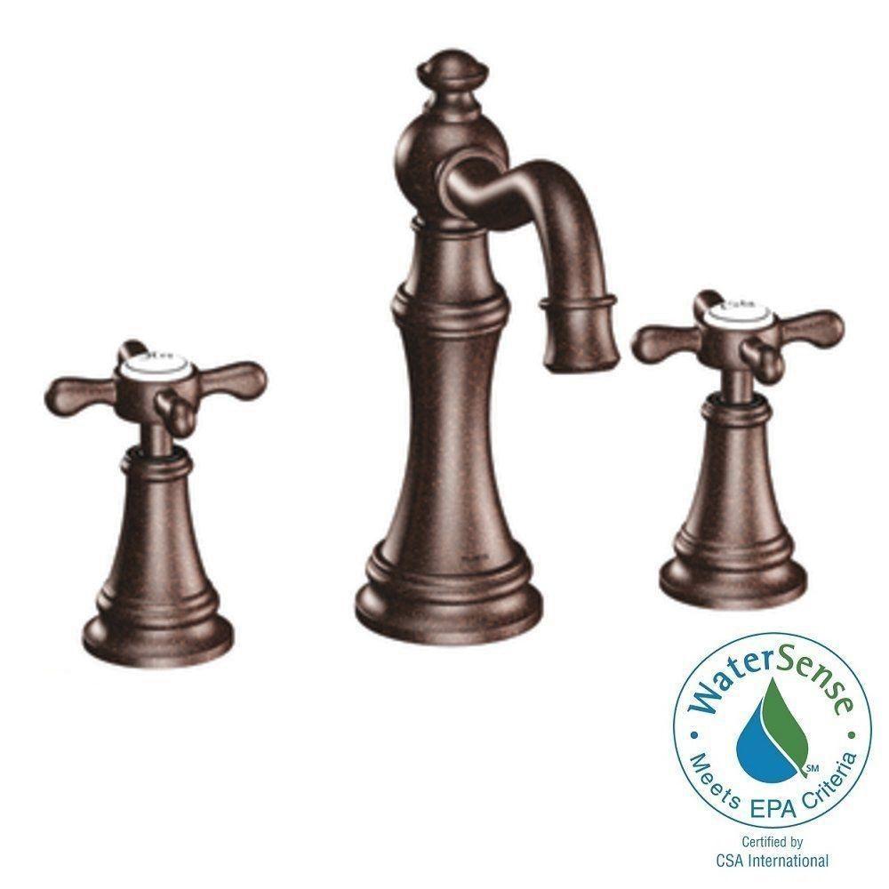 Moen Weymouth 8 In Widespread 2 Handle High Arc Bathroom Faucet