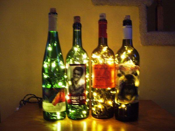 80 homemade wine bottle crafts homemade wine wine for Easy wine bottle crafts
