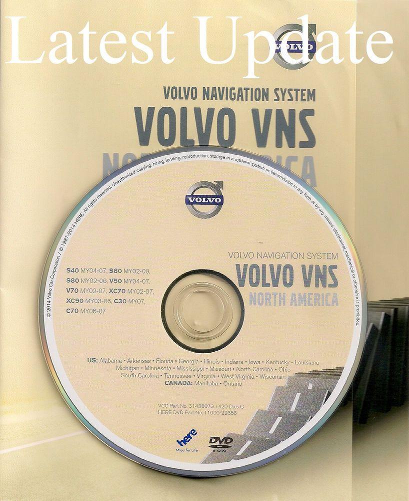 2002 2003 2004 2005 2006 Volvo S80 XC90 Navigation DVD