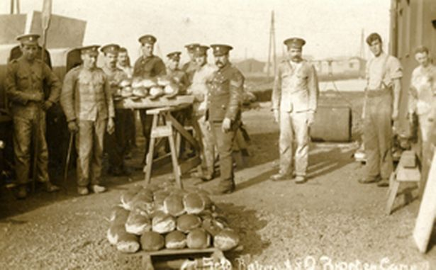 The Army service Corps field bakery at work