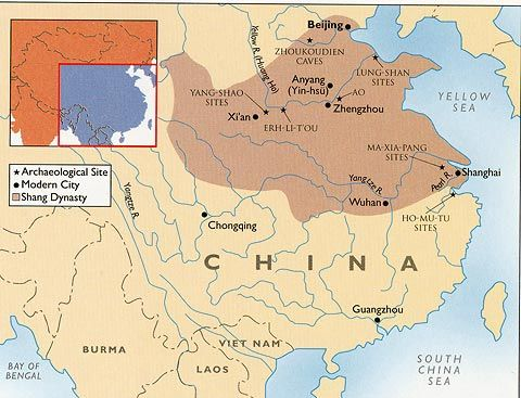 map of shang dynasty | .:: Art History ::. | History, Map ...
