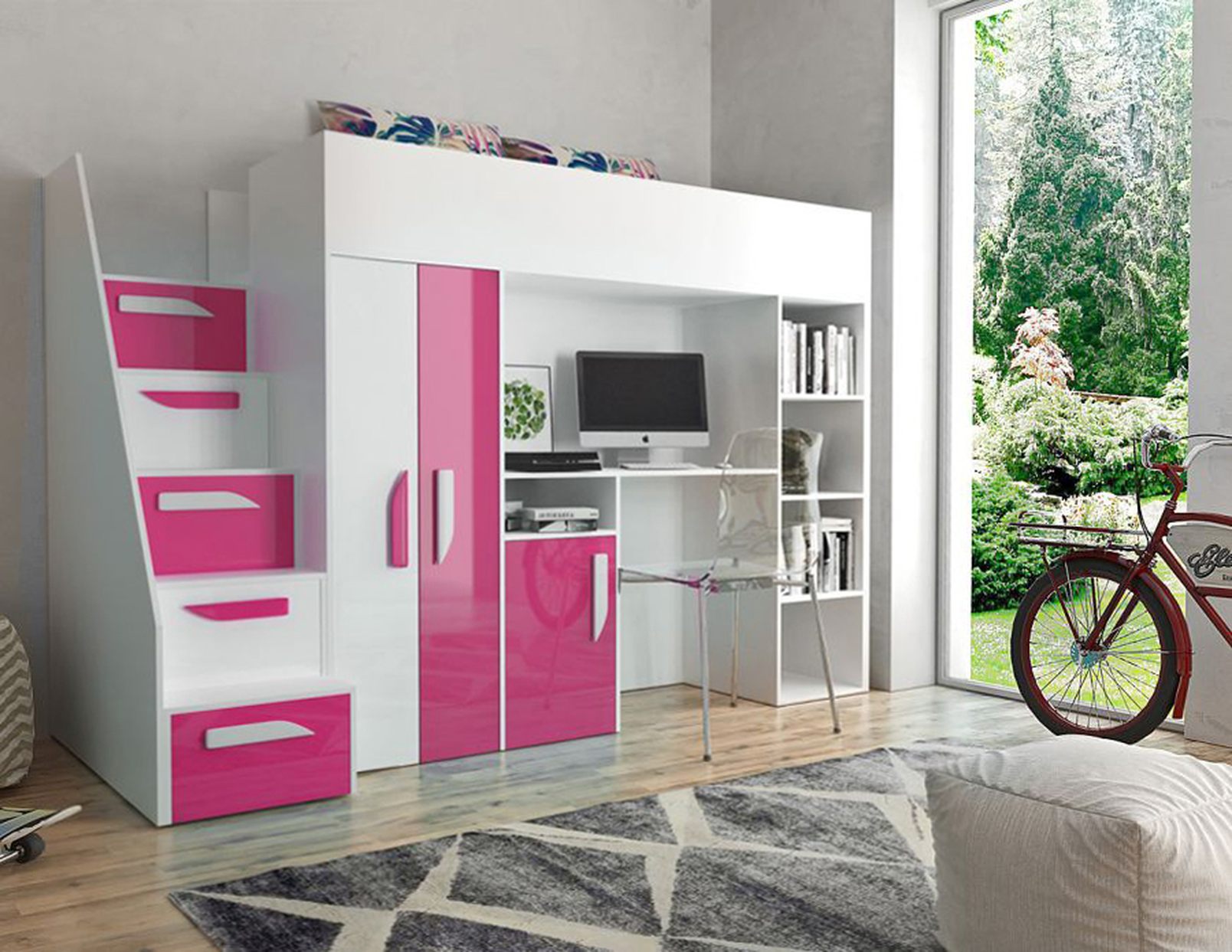 Hochbett Sunrise In 2018 Pink Passion Room Bedroom Storage Room
