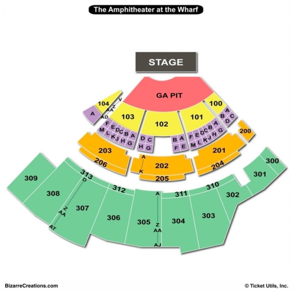 Elegant Along With Lovely The Wharf Amphitheater Seating Chart Seating Charts Amphitheater Seating