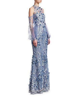 8d29dec28e27 David Meister Floral Cold-Shoulder Gown | Wedding Blue in 2019 ...