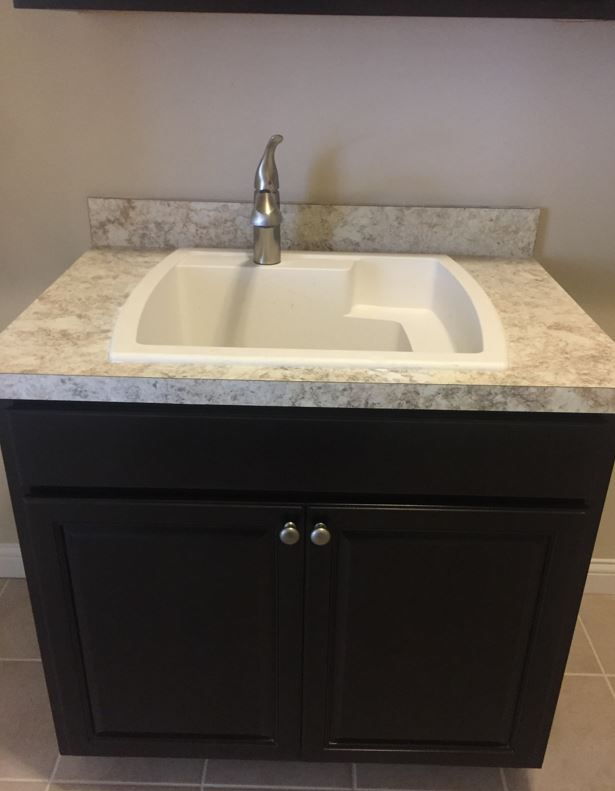 Laundry Sink Base Cabinets With Belmont Granite Laminate Countertop Laundry Sink Laminate Countertops Base Cabinets