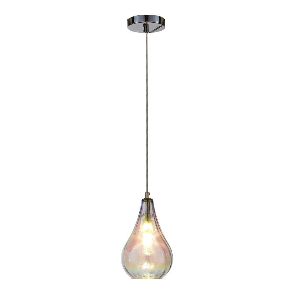 Home Depot Pendant Lights For Kitchen Ove Decors 1Light Colorful Glass Pendant  Glass Pendants Lights