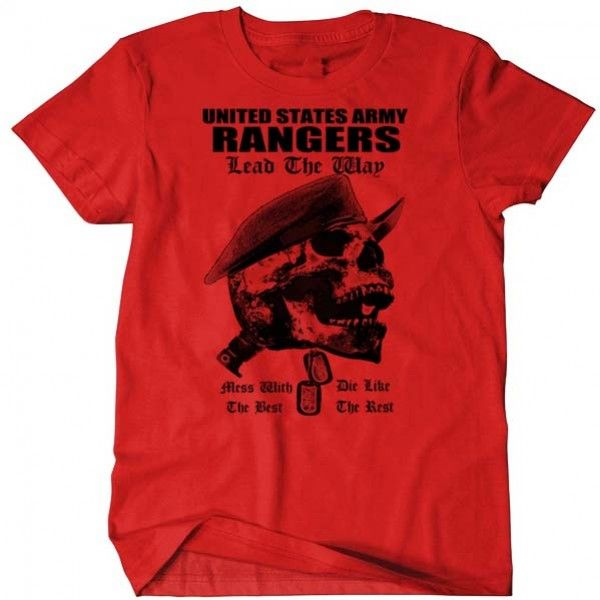 Us Army Rangers T Shirt Mess With The Best Die Like The Rest Cotton