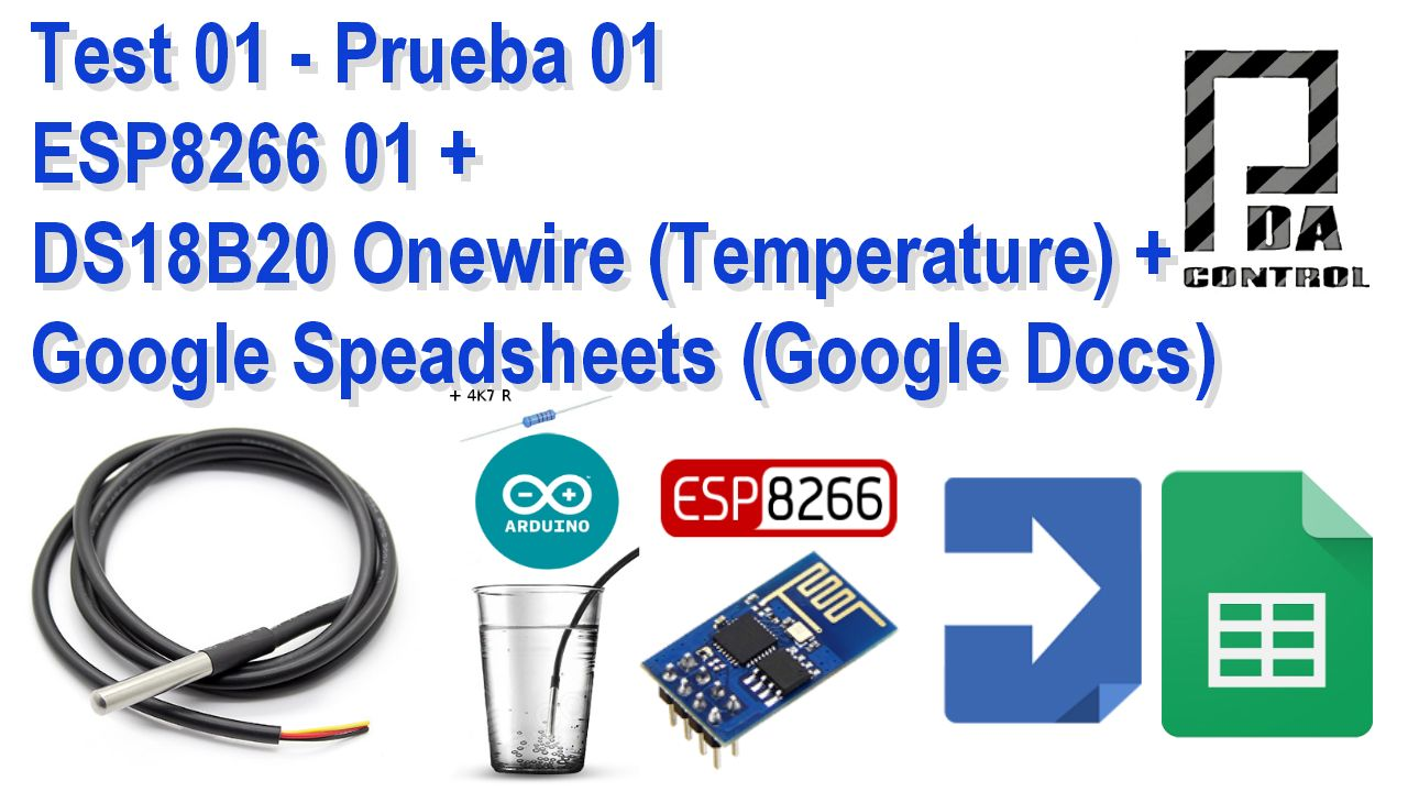 PDAControl: Test ESP8266 + DS18B20 Onewire + Google Speadsheets