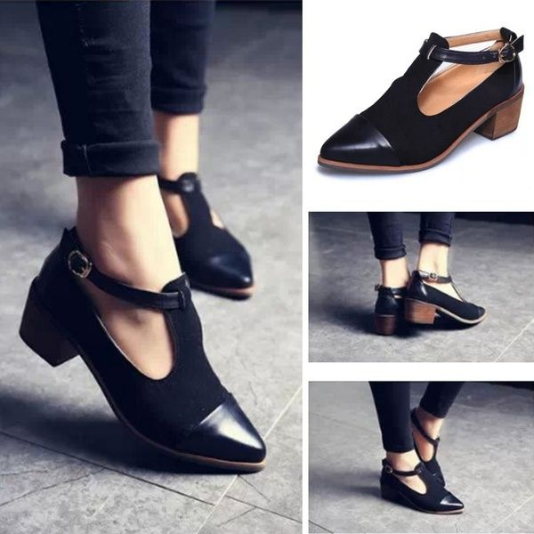 1dd401089c77 New Spring Women Pointed Toe Oxfords British Style Low Heels ...