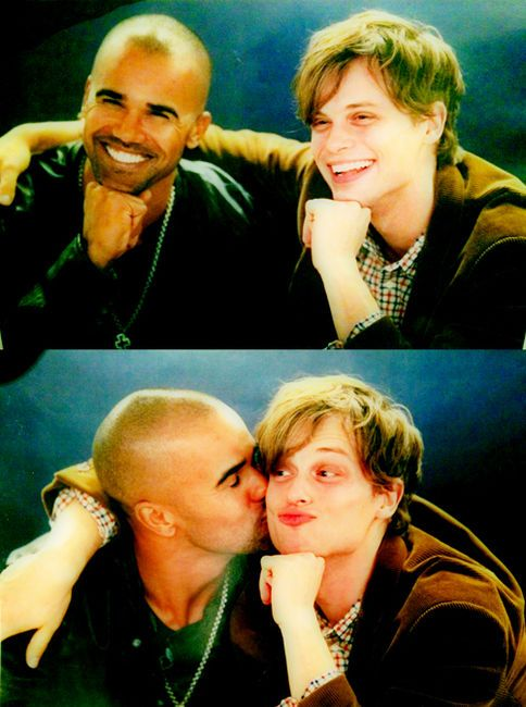 Like big brother, little brother; Shemar and Matt.