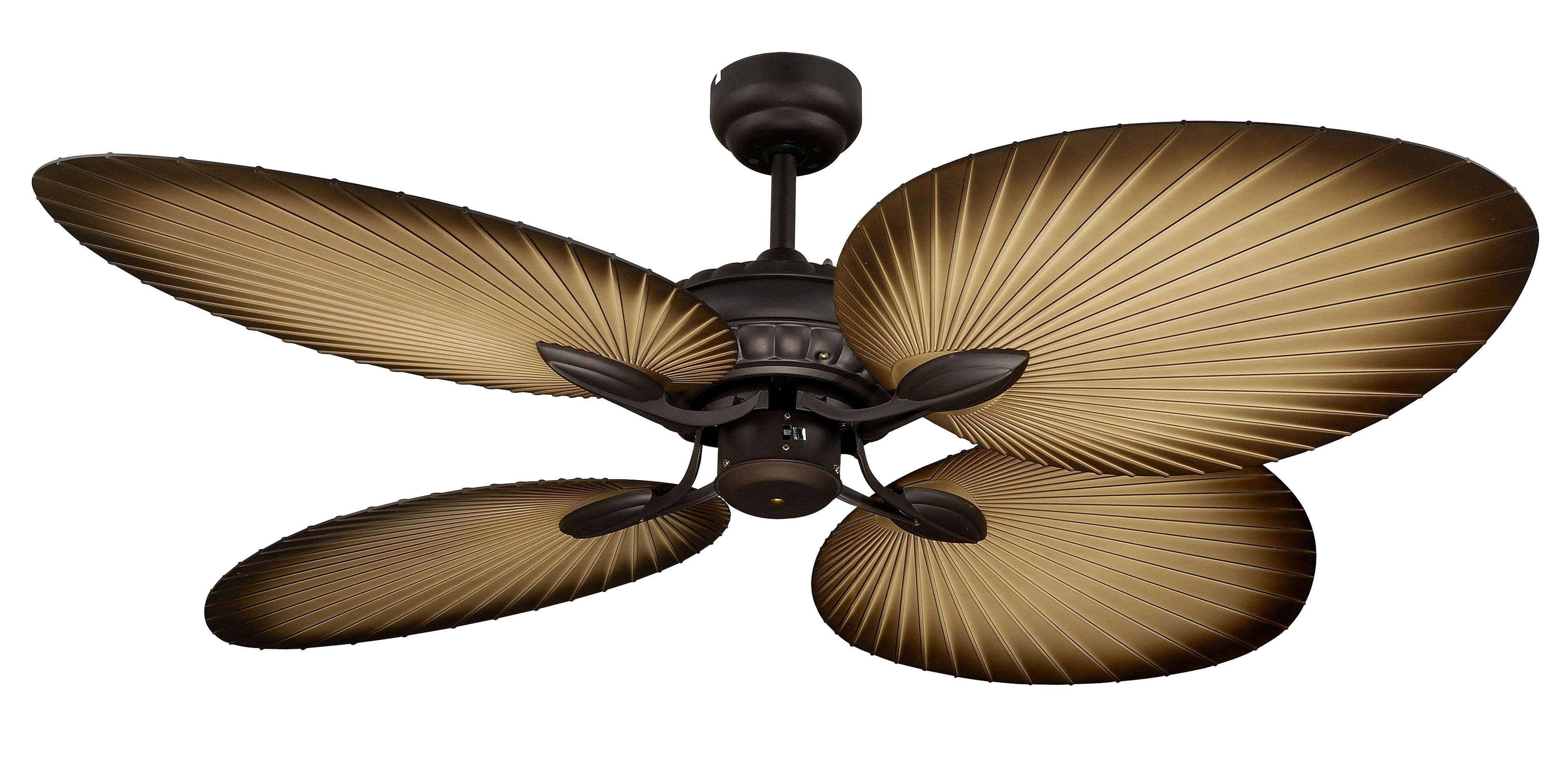 Old Bronze Martec Oasis 1300mm 52 Ceiling Fan No Light Ceiling Fan With Light Tropical Ceiling Fans Ceiling Fan