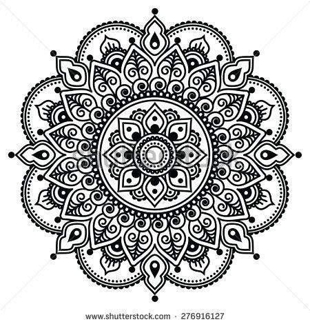 Photo of Mehndi Indian Henna Tattoo Pattern Background Stock-Vektorgr…