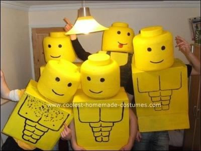 coolest homemade lego men group halloween costume - Home Made Halloween Costumes For Men