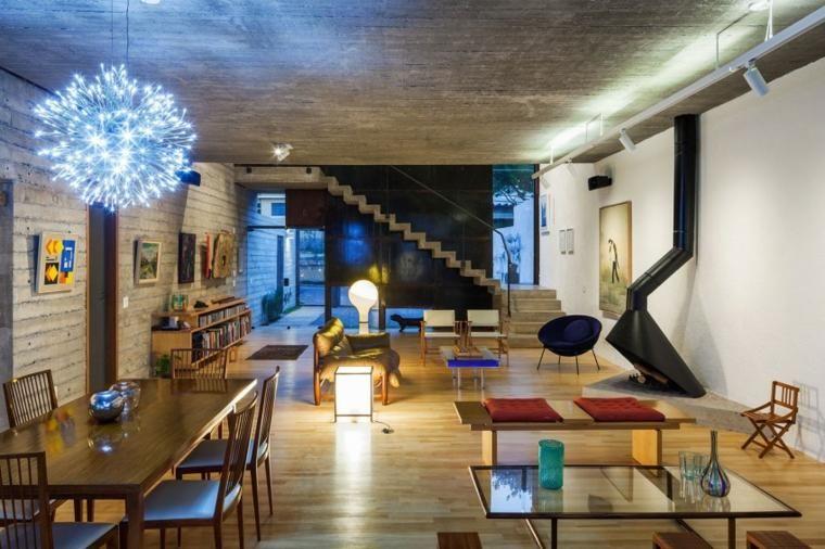 Optische Effekte bei der Verwendung von Beton in Wänden 67 Ideen Haus - wohnzimmer deko wand