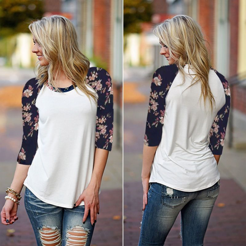 6207323d7cd Fashion Women Long Sleeve Shirt Casual Lace Blouse Loose Cotton Tops T Shirt