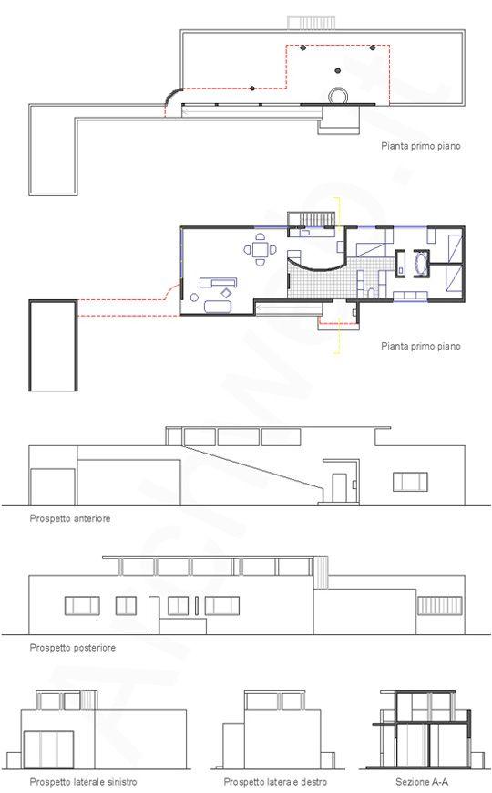 Maison de week-end, Rambouillet, France (1922) Le Corbusier