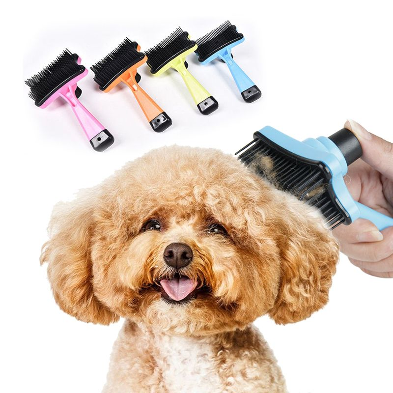 Clean Dog Brush Puppy Hair Fur Grooming Shedding Comb Tool For