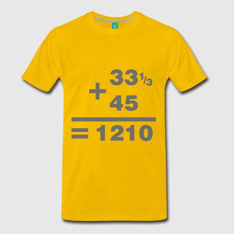 add40e22d161 DJ Maths Men's Premium T-Shirt - sun yellow | Dj T shirts | Shirts ...